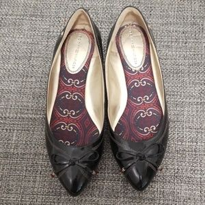 💗Tommy Hilfiger Patent Bow Flats